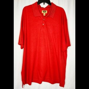 Foundry Red Short Sleeve Polo 3XL
